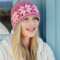 Snowlake Winter Woolly Beanie Hat